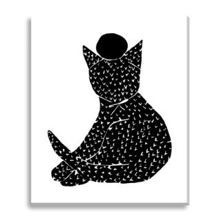 Black Kitty by Kate Roebuck Graphic Art on Canvas by Wildon Home ®