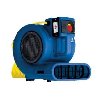 B Air Low Amp 2700 CFM Daisy Chainable Air Mover Floor Dryer Carpet Dryer Safety Certified GP 33 ETL BLUE