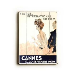 ArteHouse 14 in. x 20 in. 1939 Cannes Film Festival Vintage Wood Sign DISCONTINUED 0000 2206 26