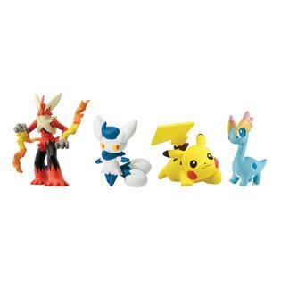 Tomy Pokémon 4 Figure Gift Pack Mega Evolution Blaziken, Meowstic