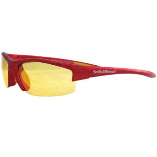 Smith & Wesson Equalizer Glasses, Red Frame with Amber Lens