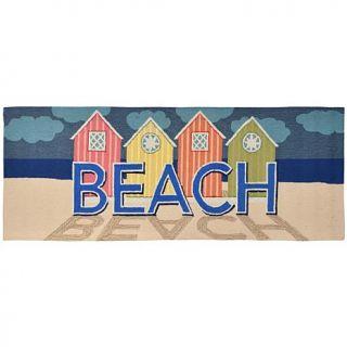 """Liora Manne 27"""" x 72"""" Frontporch Beachfront Doormat   Pastel   7799505"""