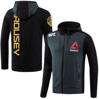 Ronda Rousey UFC Reebok Champion Walkout Hoodie   Charcoal