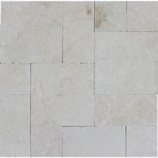 MS International Aegean Pearl Pattern 16 in. x 24 in. Tumbled Marble Paver Kit (10 Kits / 160 Sq. ft. / Pallet) LPAVMAEGPRL10KITS