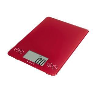 Escali Arti Glass Digital Scale, 15 Lb / 7 Kg, Retro Red   Home