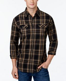 Bass & Co. Big and Tall Mountain Twill Long Sleeve Shirt   Casual