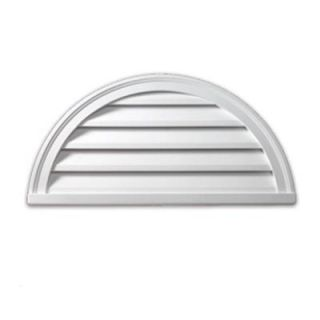 Fypon 24 in. x 12 in. x 2 in. Polyurethane Functional Half Round Louver Gable Vent FHRLV24X12
