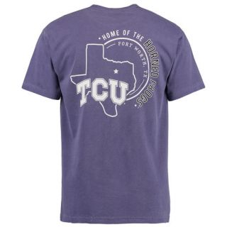 TCU Horned Frogs Purple Home State Comfort Colors T Shirt
