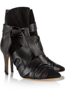Angie leather and suede ankle boots  Isabel Marant