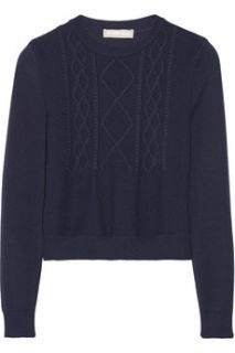 Cropped cable knit sweater  Richard Nicoll