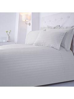 Luxury Hotel Collection Dobby Stripe bedding range in white