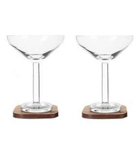 LSA   City bar cocktail glass coaster x 2