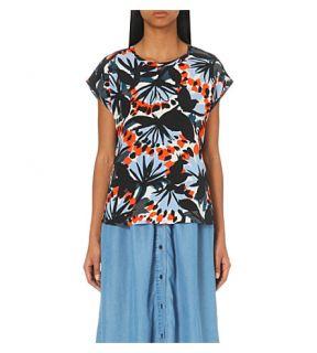 WHISTLES   Nikki abstract print silk top