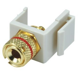 GRAINGER APPROVED Keystone Jack, Ivory, Plastic, Series: Standard, Cable Type: Speaker (Red)   Voice and Data Jacks   13U570|6537