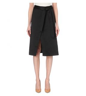 TED BAKER   Simonee midi satin wrap skirt