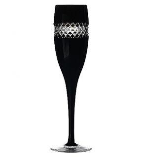 JOHN ROCHA @ WATERFORD   Set of two black cut champagne glasses