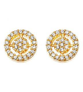 ASTLEY CLARKE   Mini icon aura 14ct yellow gold and diamond stud earrings
