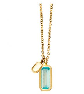 ASTLEY CLARKE   18ct gold vermeil aqua quartz necklace