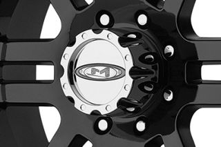 "Moto Metal MO9518980312   8 x 6.5"" Bolt Pattern Black 18"" x 9"" MO951 Gloss Black Machined Wheels   Alloy Wheels & Rims"
