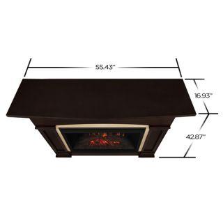 Real Flame Holbrook Grand Fireplace Mantel   Dark Walnut   7660E DW