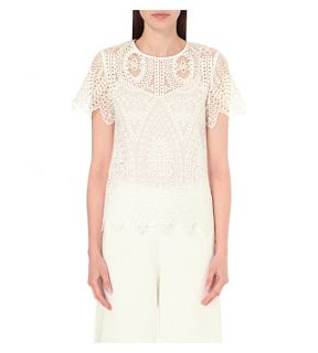 TED BAKER   Darsee lace and chiffon top