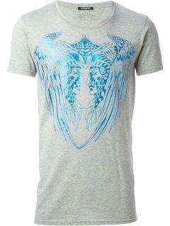 Balmain Native American Print Slim Fit T shirt   Tessabit