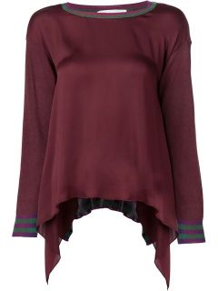 Stella Mccartney Silk Panel Sweater   Kirna Zabête