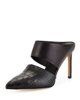 Vince Corrine Leather Slip On Mule, Black