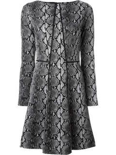 Michael Michael Kors Snakeskin Print Flared Dress   Pozzilei Treviglio