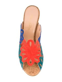 Oscar De La Renta Cut out Panels Stiletto Mules   Biondini Paris