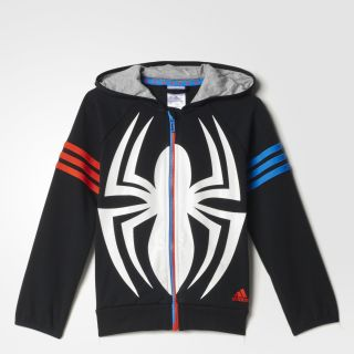 adidas Spider Man Hoodie   Black