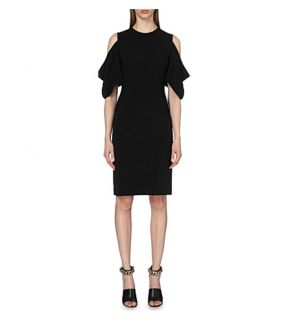 GIVENCHY   Cutaway shoulder crepe dress