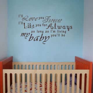 ll Love You Forever Wall Decal by Pop Decors