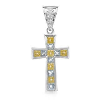 Cross Pendant with Cubic Zirconia .925 Sterling Silver