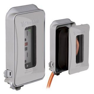 Outlet Cover, Single Gang, Expandable, Vertical & Horizontal, Grey Neoprene Rubber: Model# ML450G