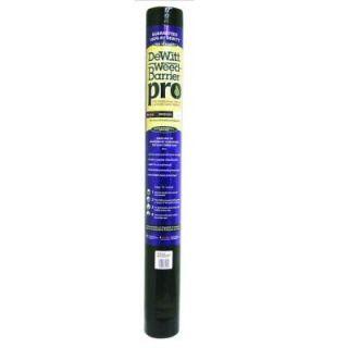 Dewitt Company 4 ft. W x 300 ft. L Polypropylene Black Weed Barrier Pro PROBLK430