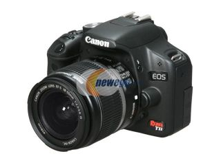 Canon EOS Rebel T1i Black 15.1 MP Digital SLR Camera w/ EF S 18 55mm f/3.5 5.6 IS Lens