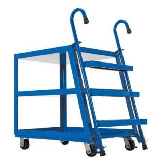 Vestil 28 in. x 40 in. 1000 lb. Steel 3 Shelf Stock Picker Truck SPS3 2840