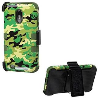Insten TUFF Hybrid Phone Protector Cover For Samsung D710, R760, Army Green/Green Woodland Camo
