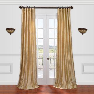 Half Price Drapes Textured Dupioni Silk Single Curtain Panel