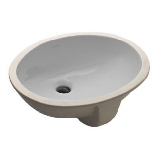 KOHLER Caxton Vitreous China Undermount Bathroom Sink in Ice Gray with Overflow Drain K 2209 95