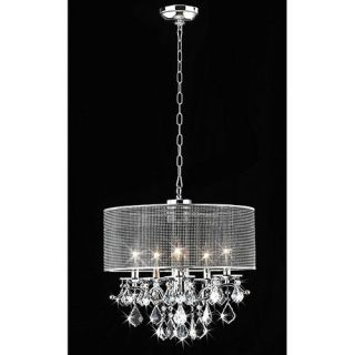 Warehouse of Tiffany 5 Light Drum Foyer Pendant