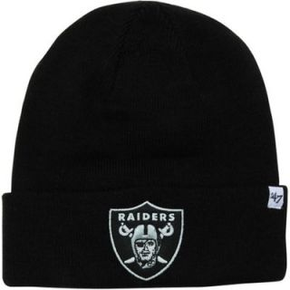 47 Brand Oakland Raiders Youth Raised Cuff Beanie   Black