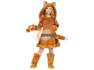 Kids Girls Fox Kitsune Animal Halloween Costume