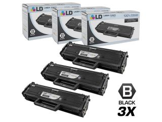 LD © Compatible Replacements for Dell 331 7335 (HF442) Set of 4 Black Laser Toner Cartridges for use in Dell Laser B1163w, B1165nfw, Multi Function B1160, and B1160W Printers