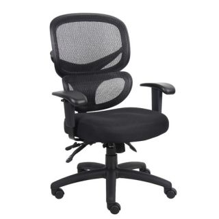 Boss Office Products Mid Back Mesh Multi Function Task Chair
