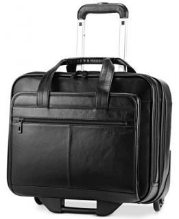 Samsonite Leather Rolling Mobile Office Briefcase   Backpacks