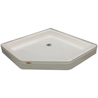 Jacuzzi Primo Oyster Acrylic Shower Base (Common: 42 in W x 42 in L; Actual: 42 in W x 42 in L)