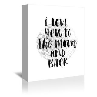 Americanflat I Love You to The Moon and Back 2 Textual Art on Gallery