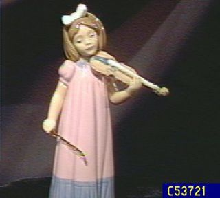 Nao by LLadro Girl with Violin Figurine —